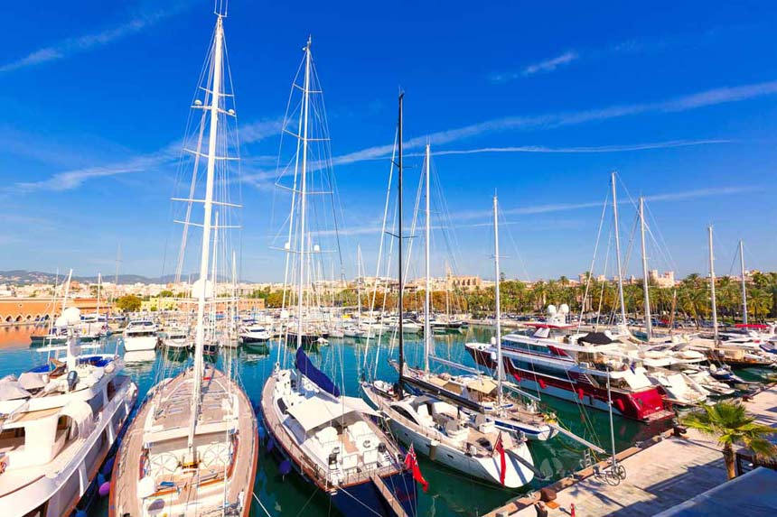 Boats-at-Palma-port-marina