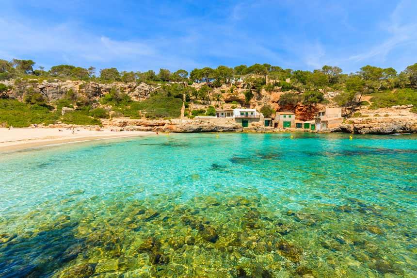 Beautifull cristaline water and beach of Cala Llombards