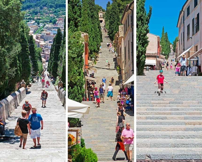 Steps to the Calvario in Pollensa