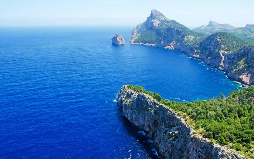 Beautifull panoramic view from Cape Formentor