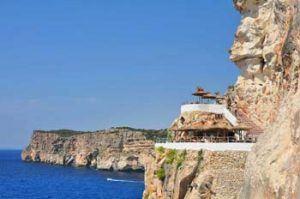 Cliffs in Cova den Xoroi in Menorca