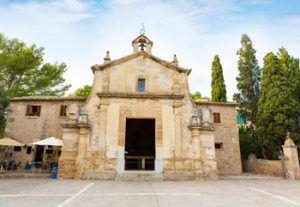 Church El Calvario over Pollensa city