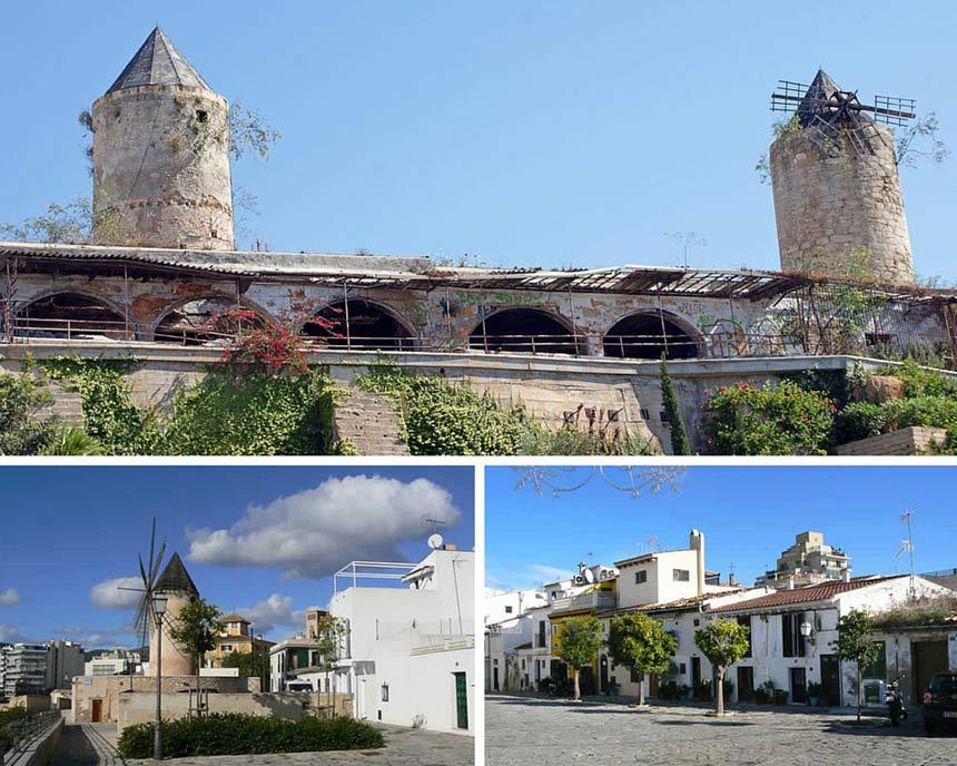 Photo collage of Es Jonquet quartier in Palma mallorca