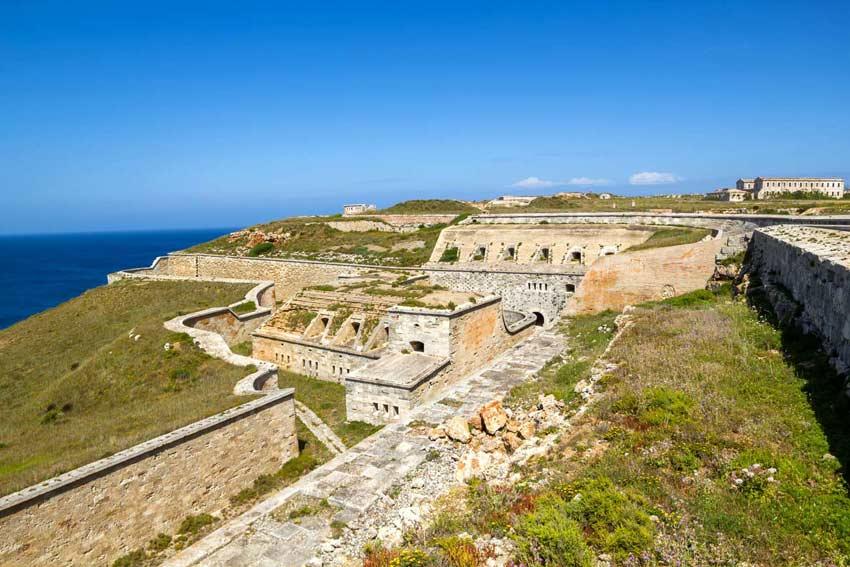 Fortress-of-La-Mola-in-Mahon aereal view