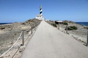 Lighthouse in Favaritx Cape, Mahon