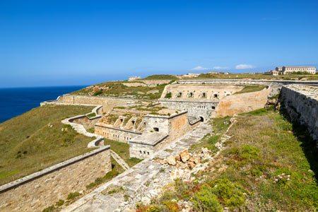 Mahon fortress aereal view