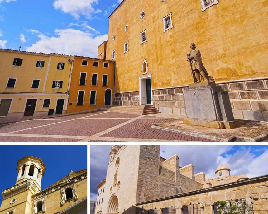 Photo collage of old and historic buidings of Mahon