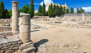Old roman Ruins of the city of Pollentia