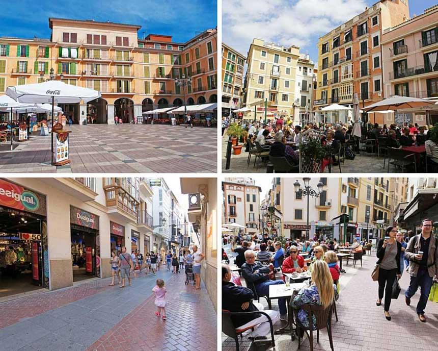 Bars and terrasses of Palma de Mallorca centre