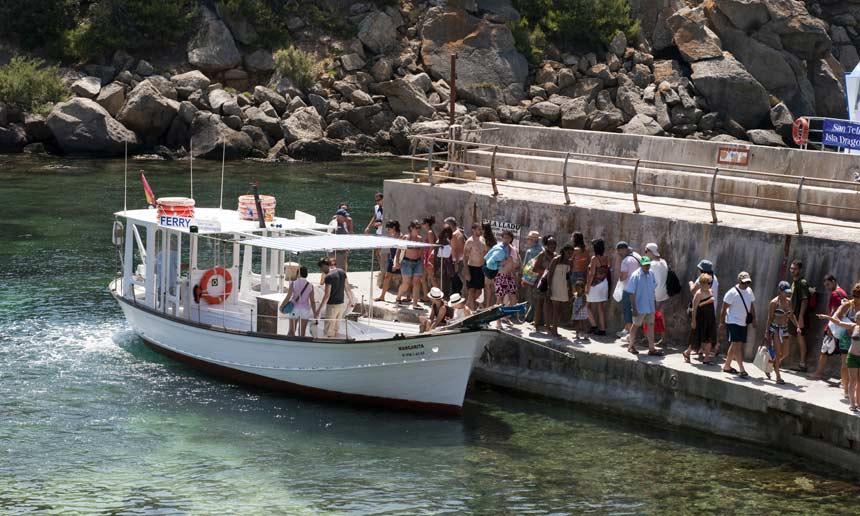 Sa Dragonera Natural Park boat stop for tourist