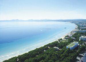 Playa de Muro aereal view