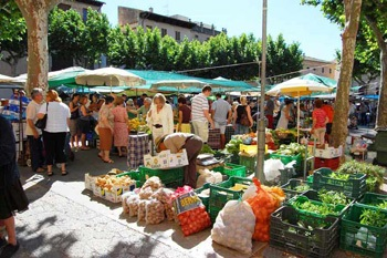 Picture of the Pollensa food street market