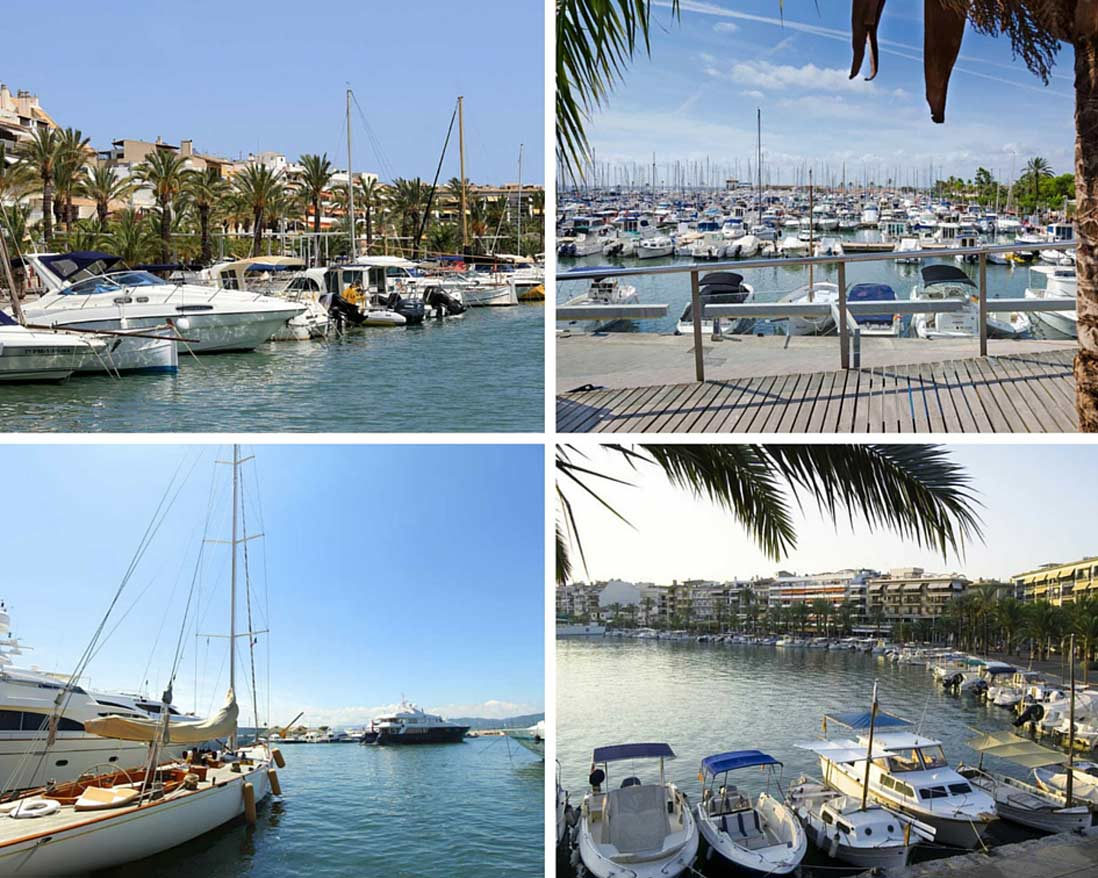 Port of Alcudia photo collage