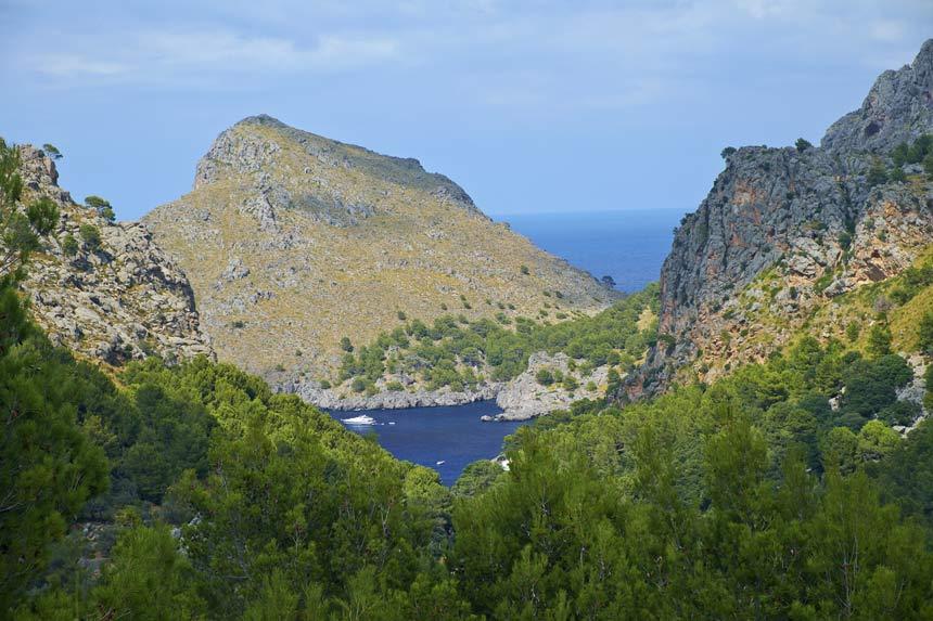 Spectacular landscape in Sierra Tramuntana