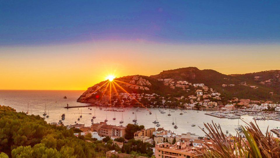 Spectacular landscape in Mallorca, sunset in Andrach