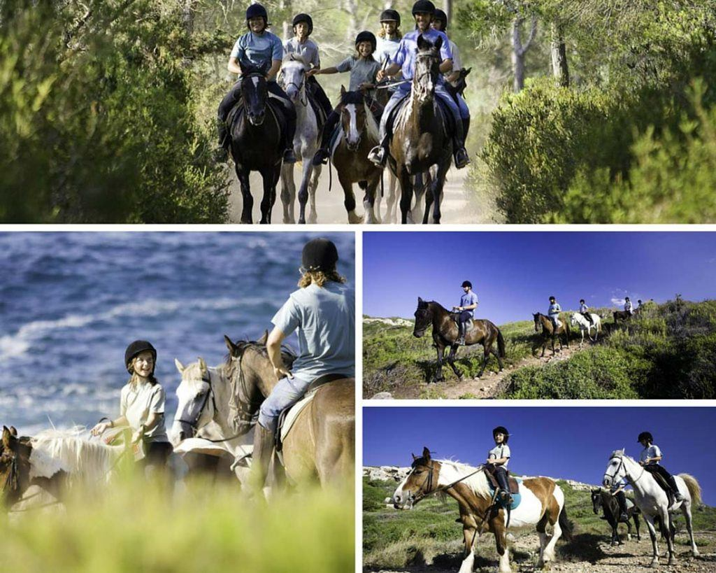 Photo collage of The horse trail of Menorca