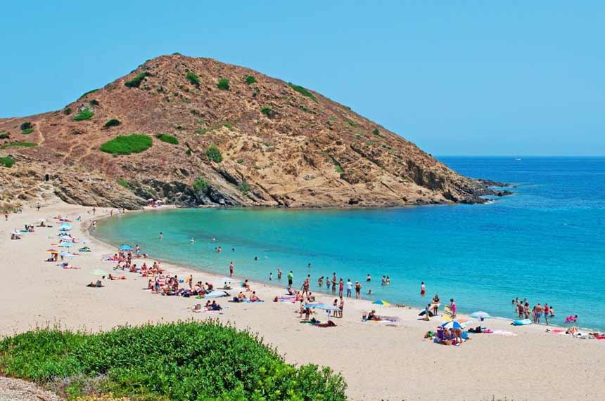 Spectacular landscape of Cala Mesquida in Arta, Mallorca