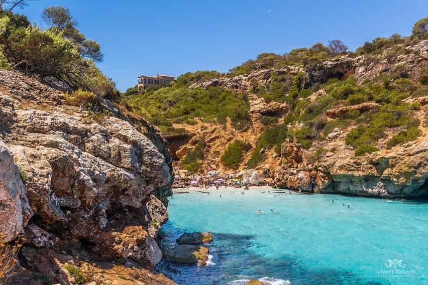 Spectacular landscape in Calo des Moro Mallorca