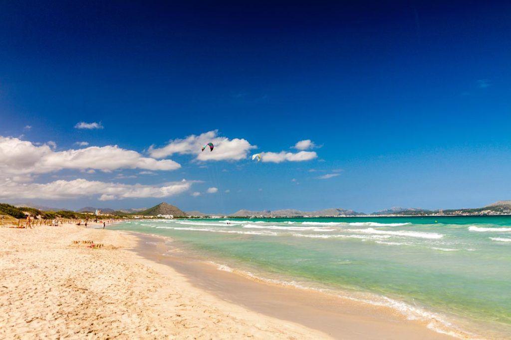 beautifull landscape of Playa de Muro in Alcudia