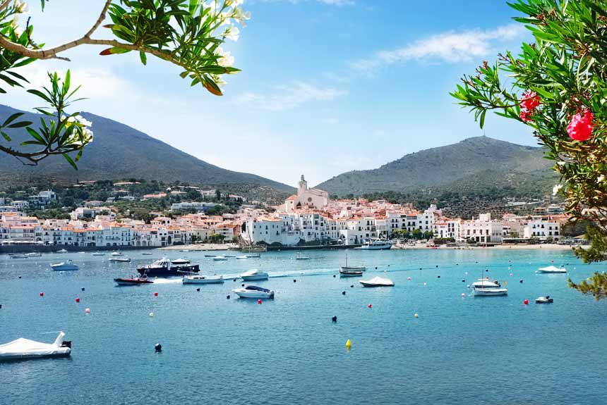 Cadaques in Costa Brava panoramic view