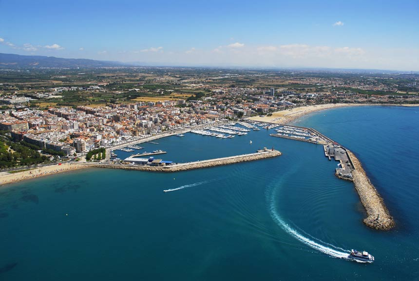 Cambrils aereal view