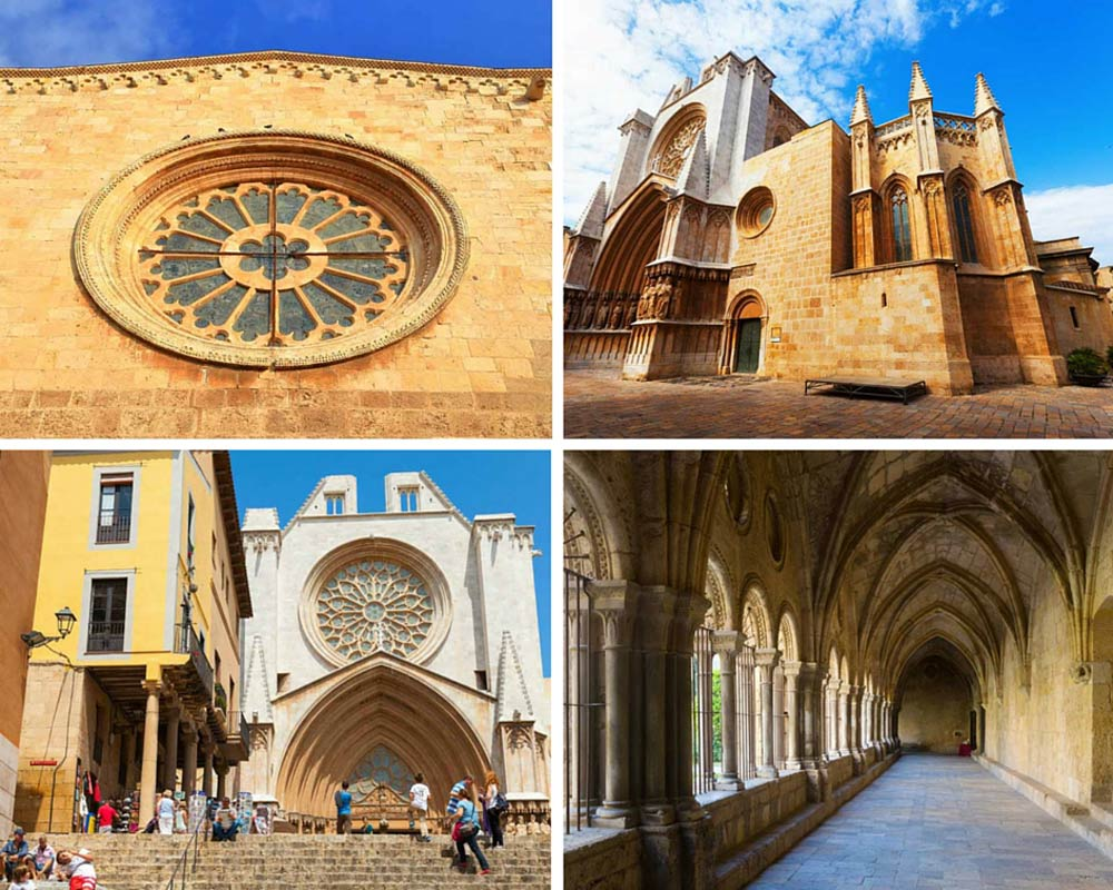 Cathedral of Tarragona photo collage