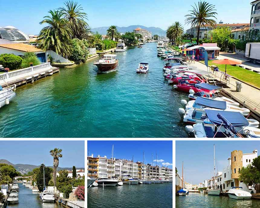 Empuriabrava water streets photo collage