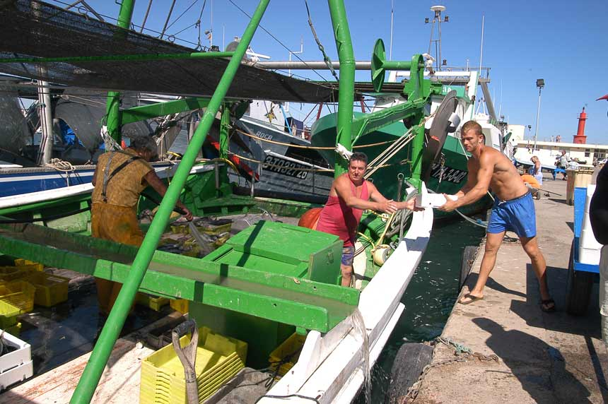 Fish boats in Cambrils