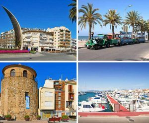 Photo collage cambrils main promenade