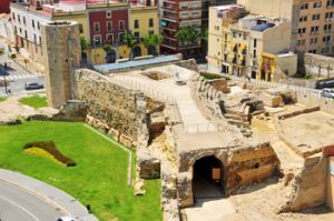 Roman circus in Tarragona aereal view