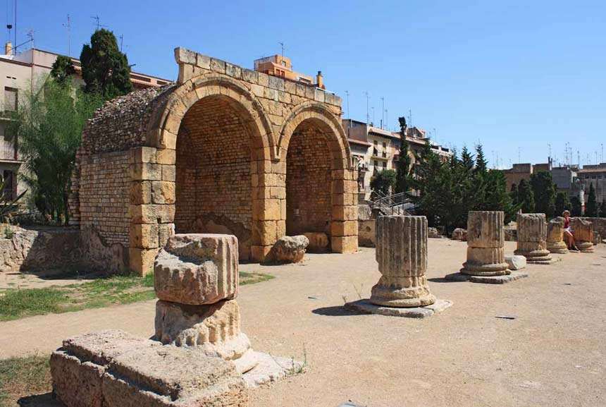 Tarragona old roman ruins, Roman forum