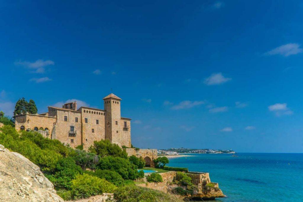 Beautifull landscape of the Tamarit Castle in Tarragona