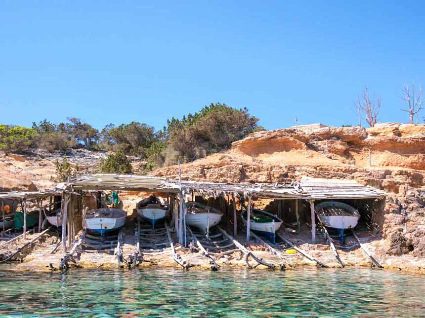 Beautifull boats at Cala Saona