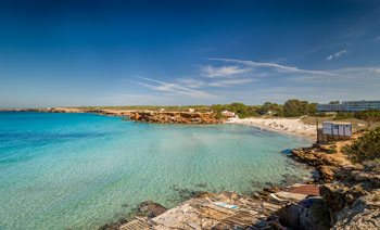 beautifull Cala Saona beach in Formentera