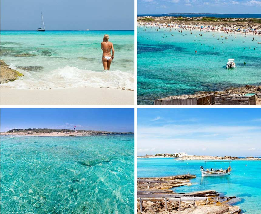 Formentera beach photo collage