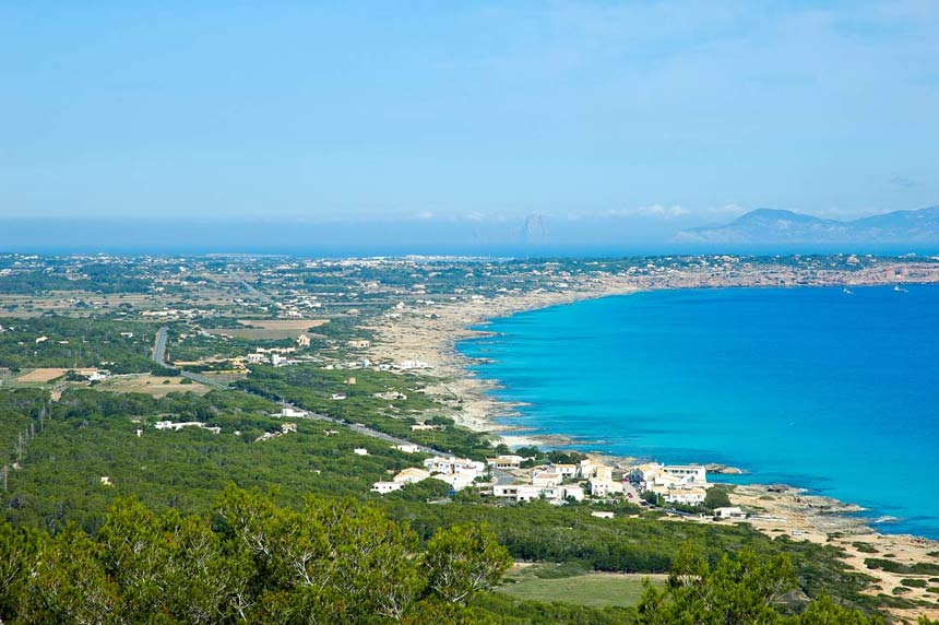 formentera panoramic view