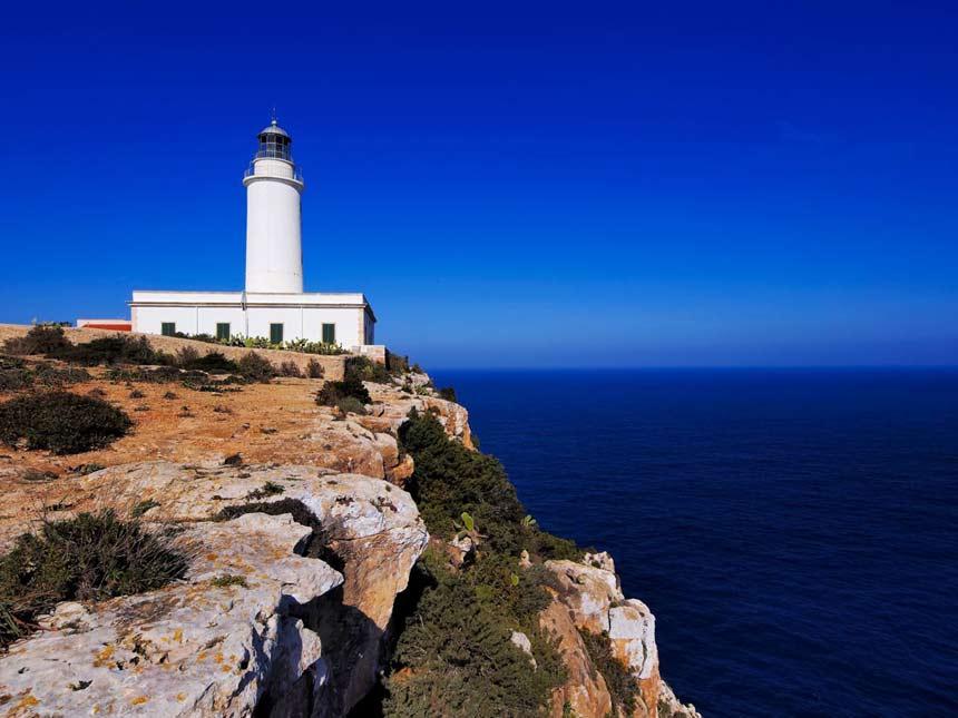 Beautifull La Mola Lighthouse and cliffs