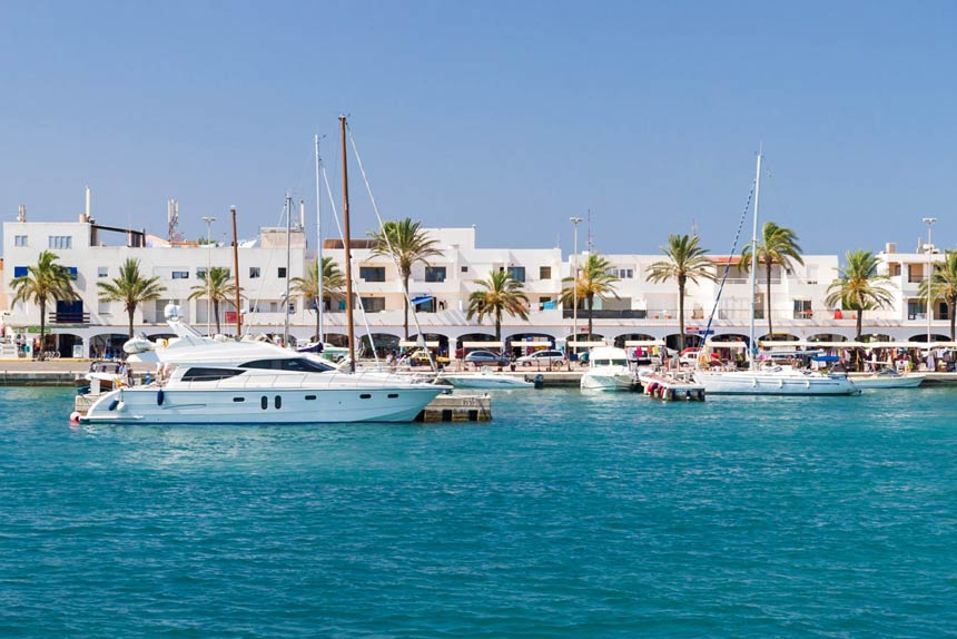 La Sabina port in Formentera