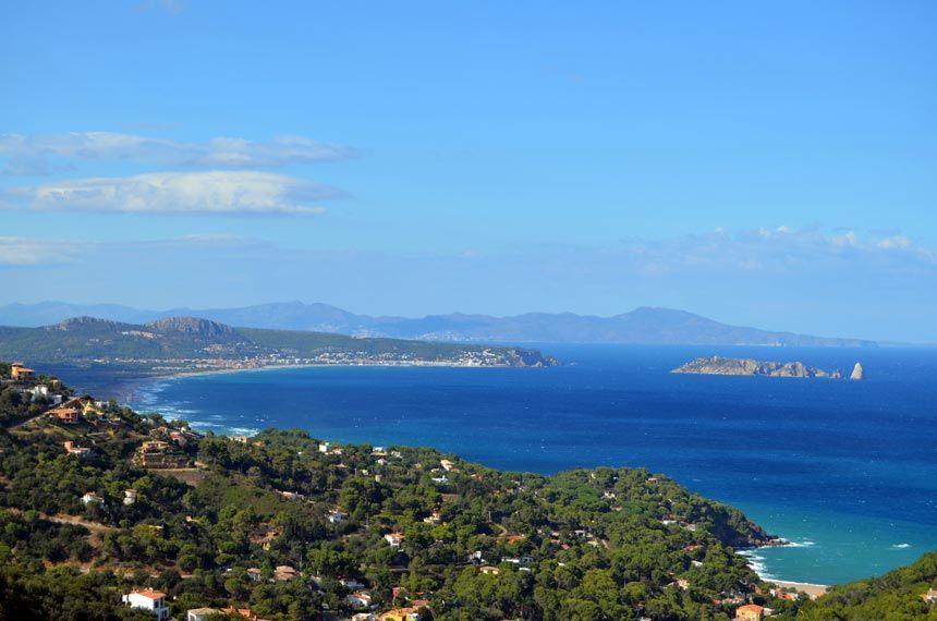 Medas islands aereal view