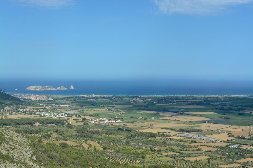 Medas islands panoramic view