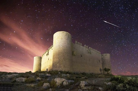 Torroella de Montgri Castle during the night