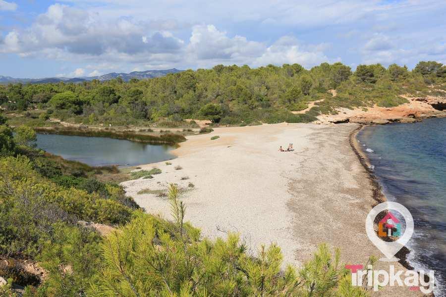 playa santes creus en Ametlla de mar