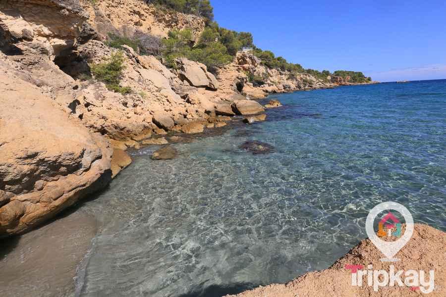 playa l'Illot en Ametlla de Mar
