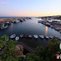 vista panoramica del puerto de Ametlla de Mar al anochecer