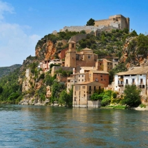 Panoramica del castillo de Miravet