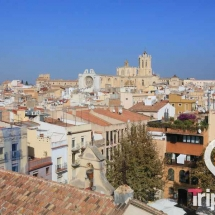 Catedral de Tarragona vista desde lo alto de la torre del pretori