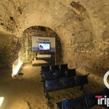 sala de audiovisuales en el interior del circo
