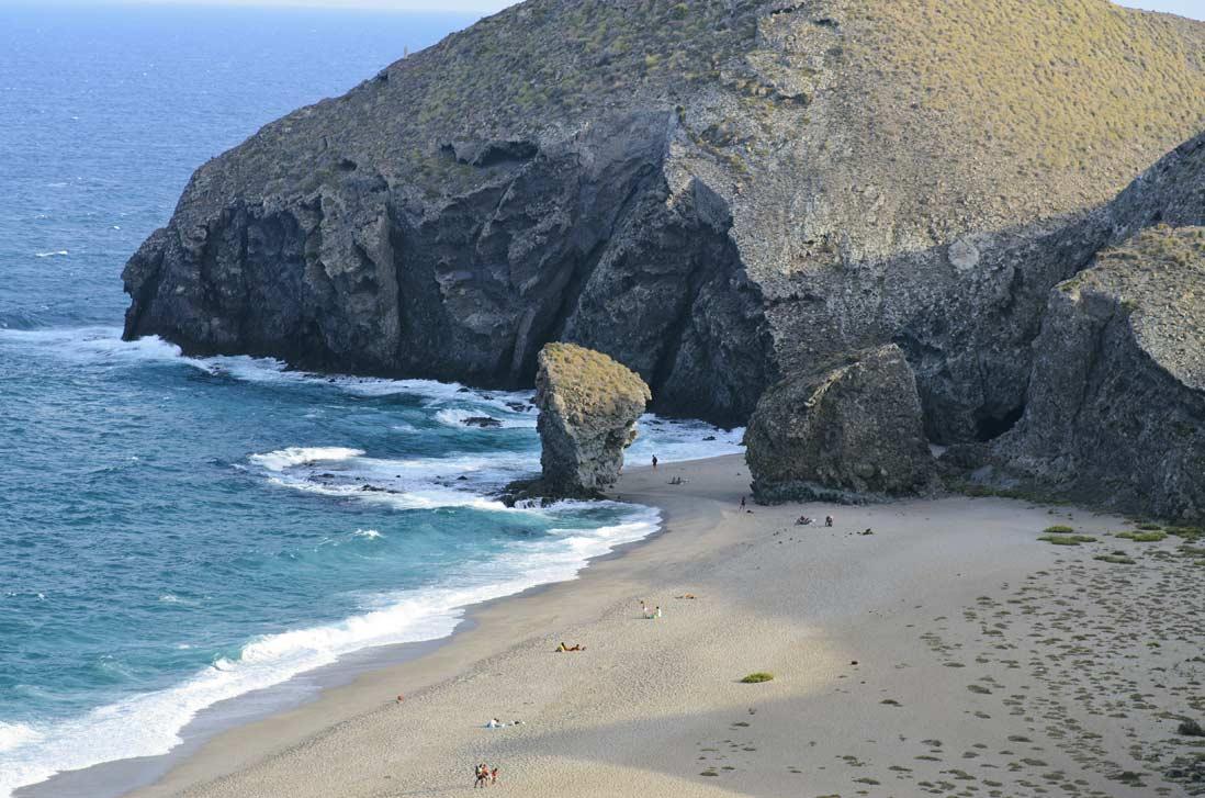 Playa de los muertos beach in Mojacar