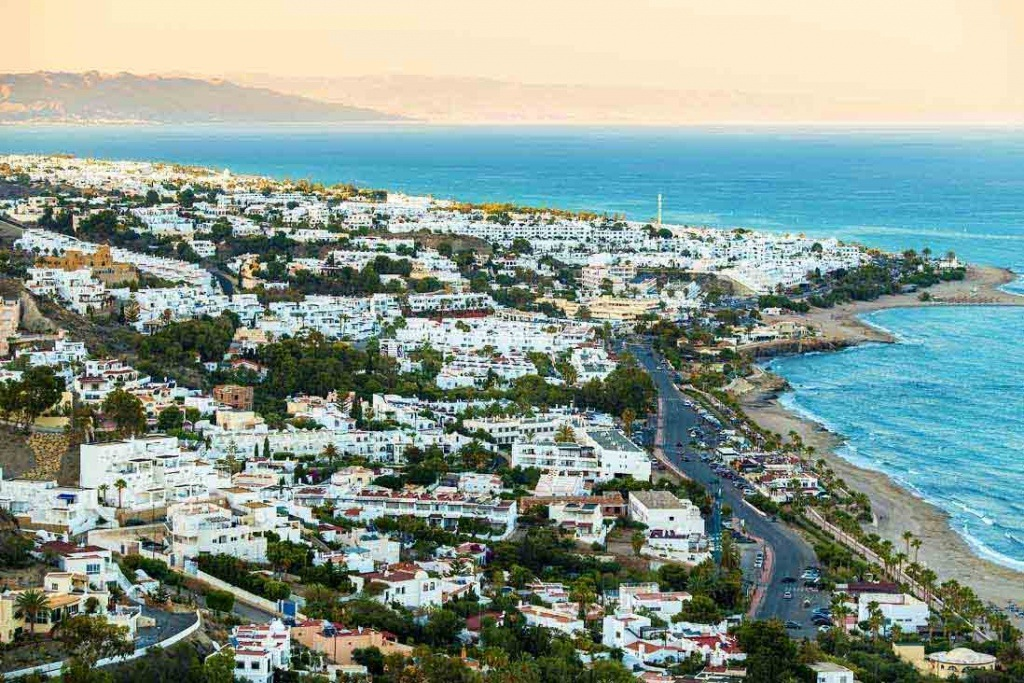 mojacar panoramic view in Almeria