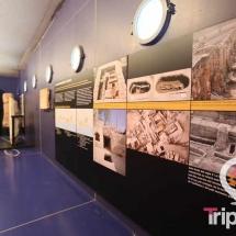 Interior del museo de la necropolis paleocristiana de Tarragona
